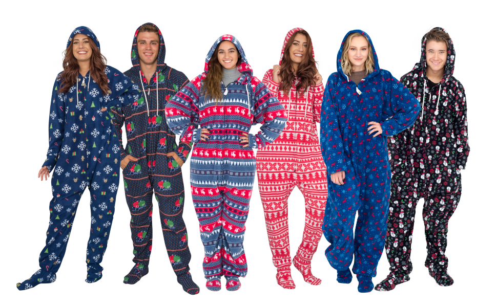 Costume Agent Ugly Christmas Lazy Pajama Suit with Hood