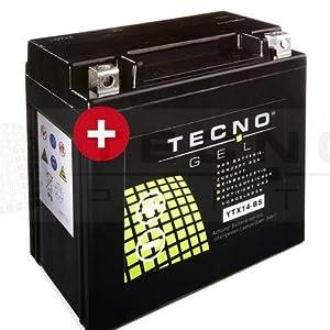 Tecno Gel Motorcycle Battery Ytx14 Bs 12 V Gel Battery 14ah Din 51214 151 X 87 X 145 Mm Auto
