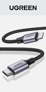UGREEN usb c to lighting cable