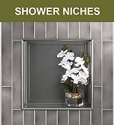 Schluter Kerdi Board 12 x 12 inch Recessed Shower Niche Tile Preassembled Single Shelf, Cottage, ...