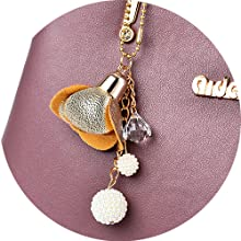 charm flower pendant of ACLULION women purse
