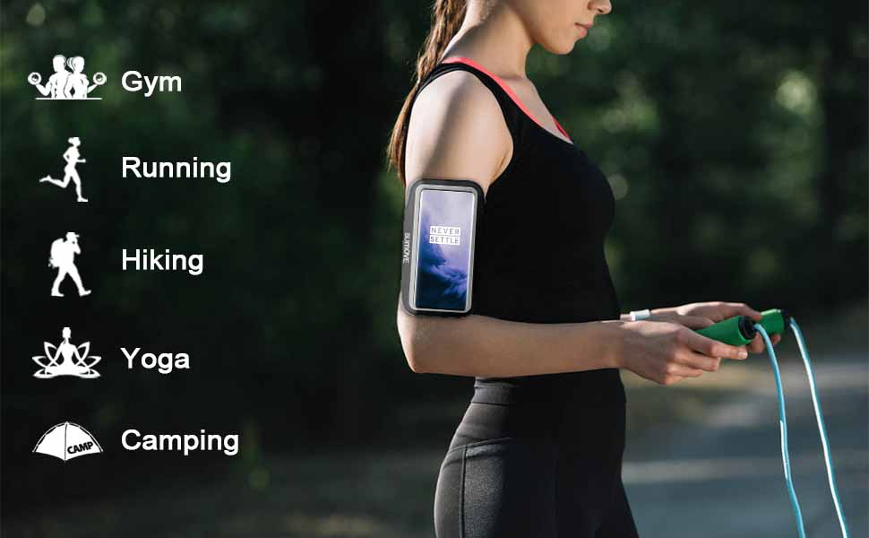 The armband applies to gym high intensity workouts,running,hiking yoga and camping,etc.