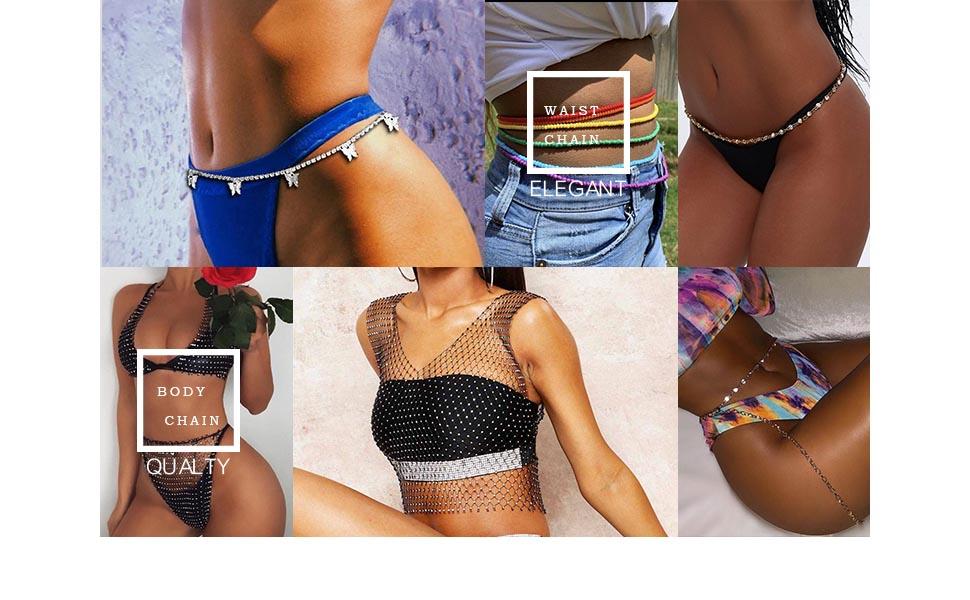 fashion body chain jewelry