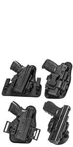 Core Carry 4 holsters in one custom fitment sig glock springfield kit adaptable iwb owb adjustable