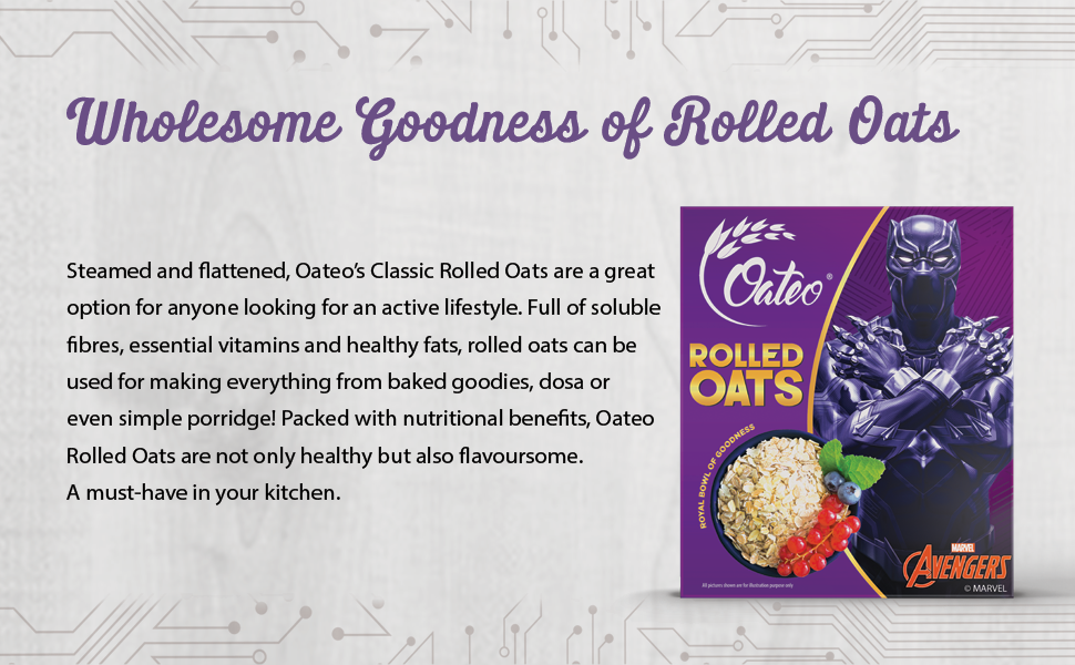 wholesome goodness of Rolled oats