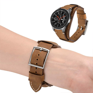 22mm band strap for samsung galaxt 46mm brown gray sport stainless steel