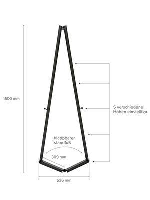 K/ünstler Alu-Staffelei DISPLAY SALES mobile Staffelei aus Aluminium silber f/ür Rahmen bis 120 cm