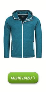 Ortovox Ice Breaker - Giacca da uomo in lana merino, con cappuccio, giacca sportiva
