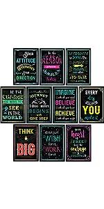 inspirational wall art decor motivational posters office classroom living room bedroom playroom