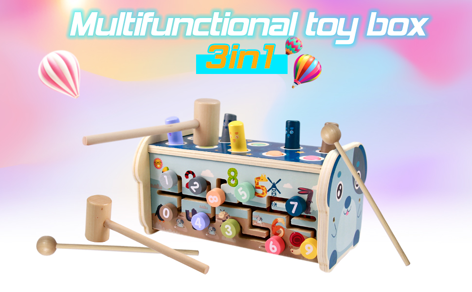 Juguetes Montessori Madera Xilofono
