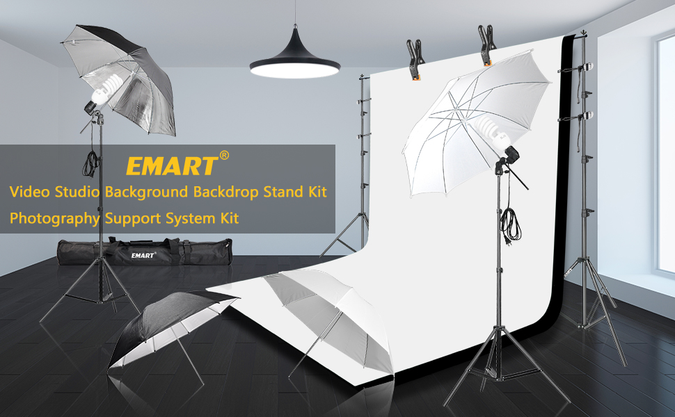 Emart 400W 5500K Daylight Umbrella Continuous Lighting Kit