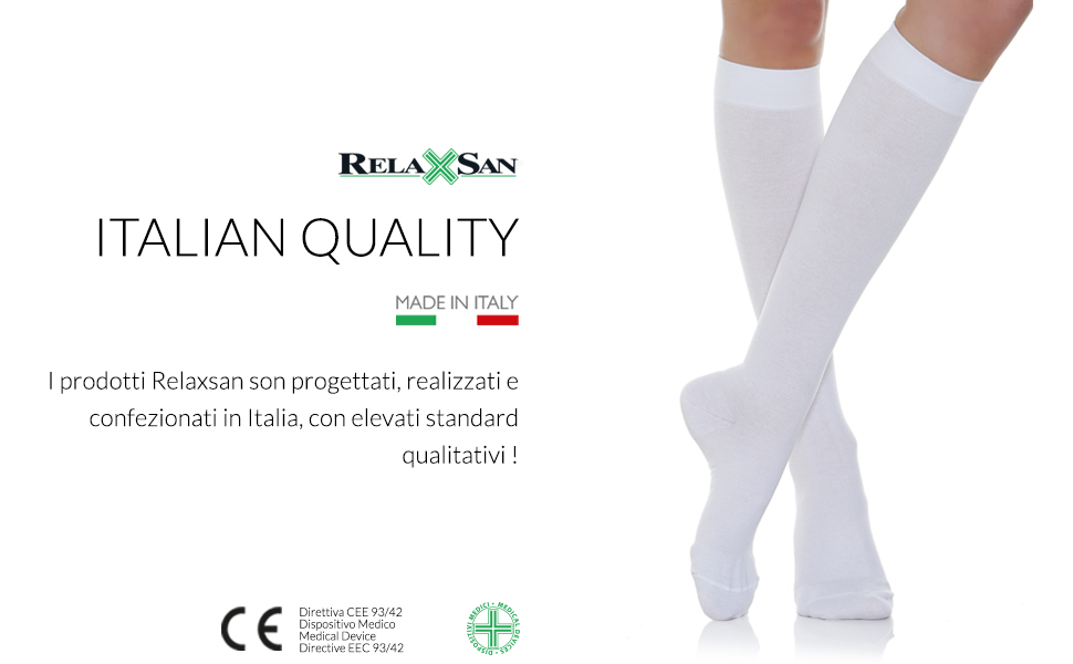 relaxsan calze a compressione graduata made in italy cottonsocks