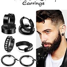 mens huggie earrings mens religious earrings mens ring earrings