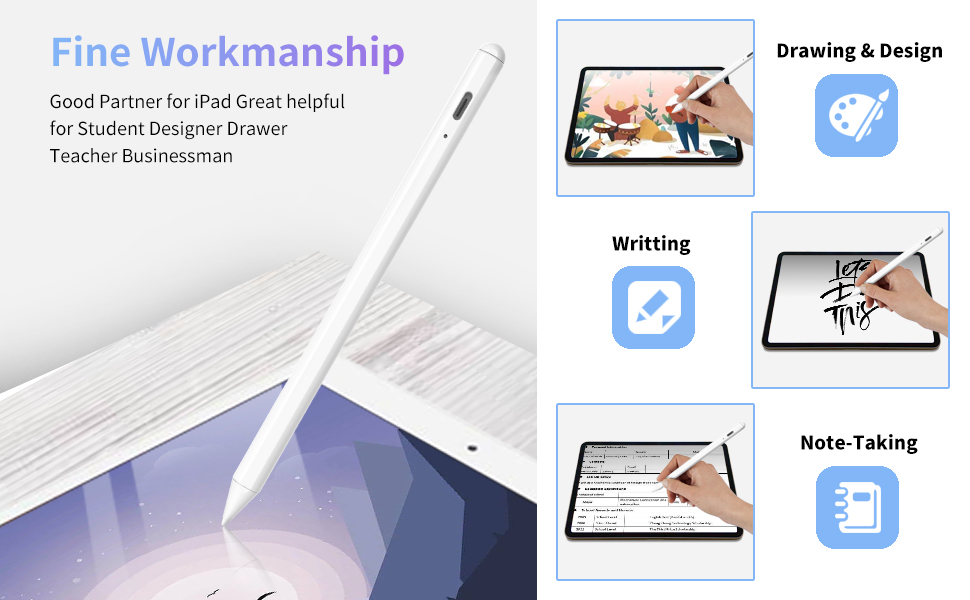 The digital touch pen is good partner of the ipad