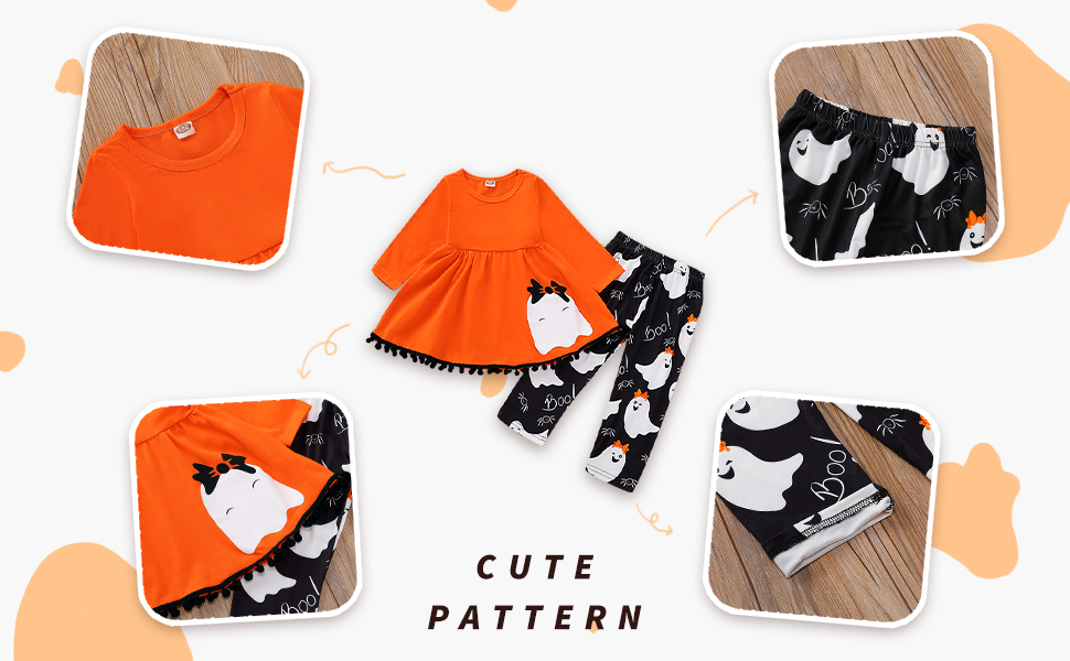 ghost orange dress top+black floral pants set