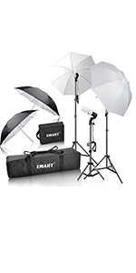 Emart 600W Portrait Studio Day Light Umbrella Continuous Lighting