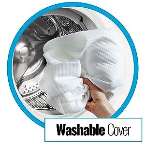 Funda de almohada extraíble y lavable