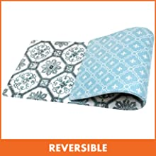 Reversible memory foam cushion mat rug