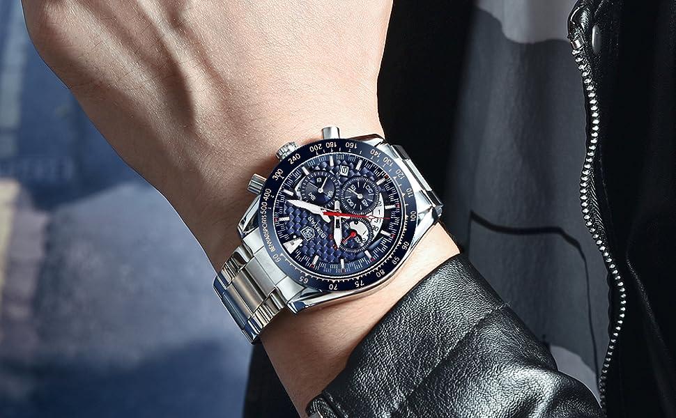 benyar watch men blue