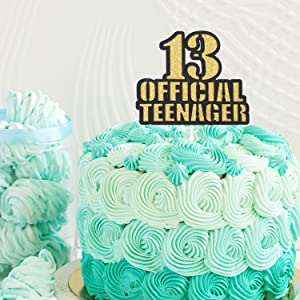 Pleasant Official Teenager 13 Birthday Cake Topper Boys Girls 13Th Funny Birthday Cards Online Inifodamsfinfo
