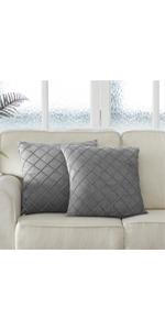 velvet grey pillows