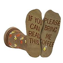 bring get me coffee socks men women gift coffee lover novelty fun
