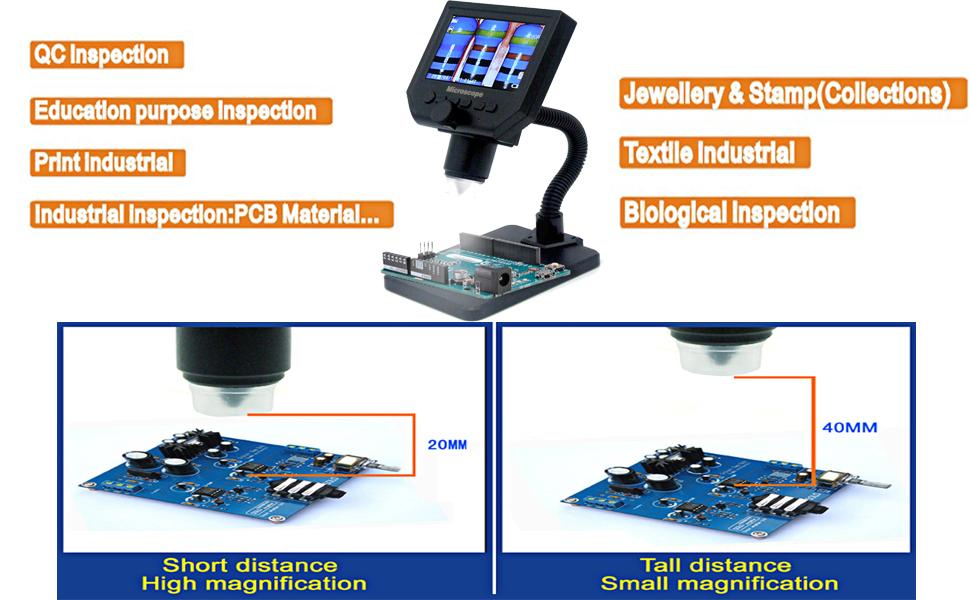 g600 4.3 inch lcd digital microscope