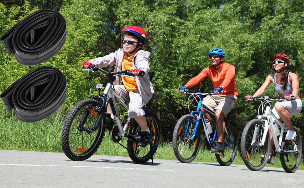 "1*26/'/' MTB Road Mountain Bike Bicycle Inner Tube 26/""x1.95//2.125 Durable Rubber"