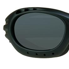 motorcycle biker goggles sun glasses shades dark grey smoke gray mirror lens strap foam blocks wind