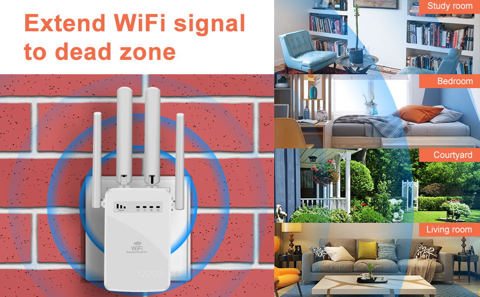 Extend WiFi signal to dead zone