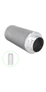 6 inch air carbon filter