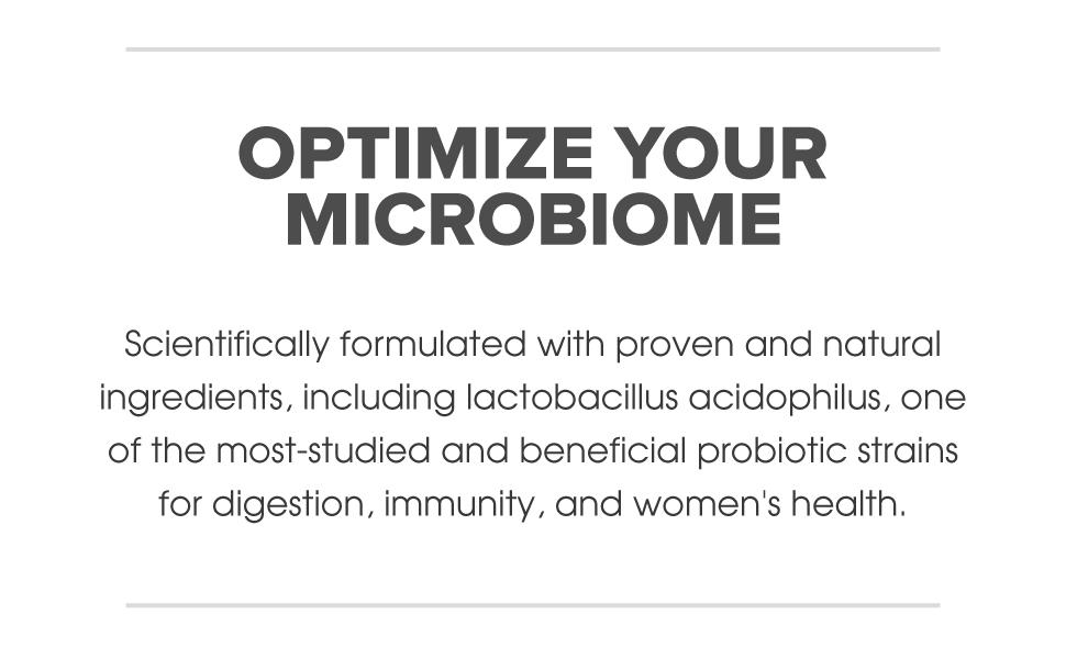 lactobacillus acidophilus lumen probiotics for women