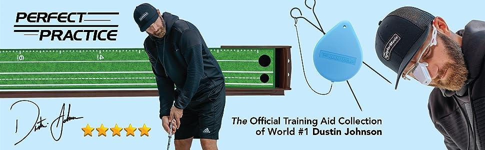 Dustin Johnson Golf Mat training aid collection