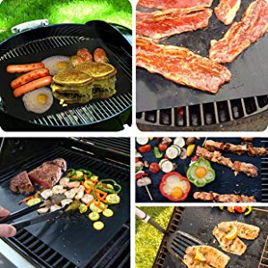 Regalo /è Una Clip e Un Pennello. per Forni Assortiti//Carbone//Gas//Grill Elettrico//Cottura//Stuoia di Pizza Nero 1.0 BLAZOR Stuoia per Barbecue,Set di 5 Riutilizzabili Facili da Pulire