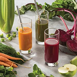 juicing and water glass