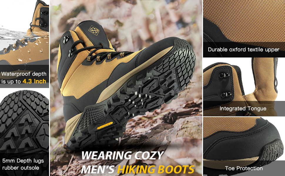Wantdo Men's Ankle Waterproof Boots