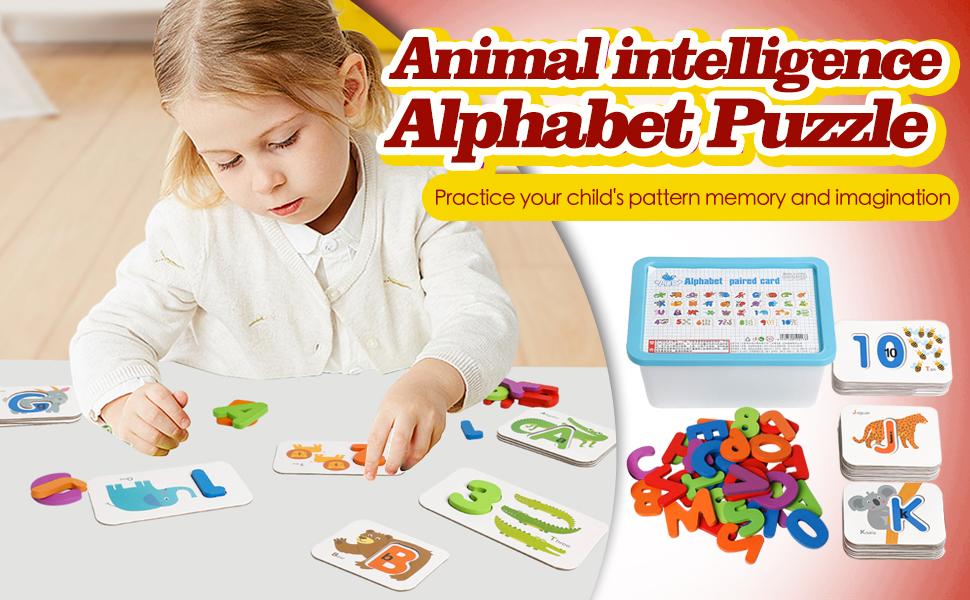 Animal intelligence alphabet puzzle