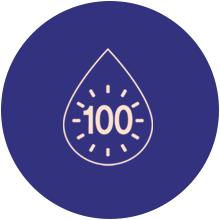 100-hour long lasting moisture