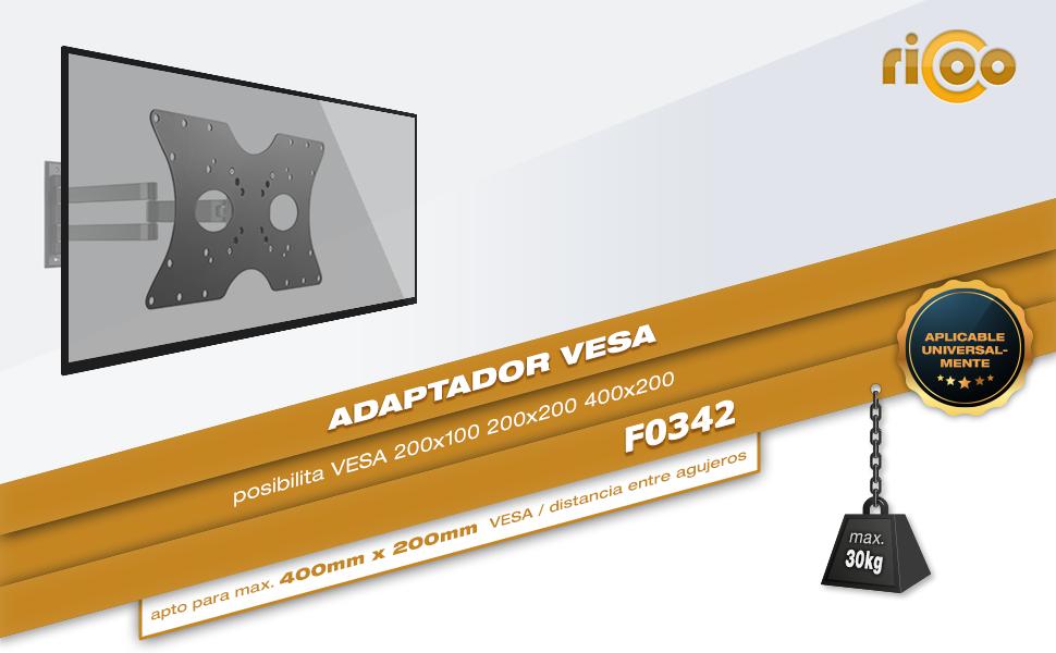 RICOO F0342, Adaptador VESA para Soporte TV, Televisión 32-55