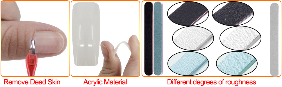 Acrylic nails art tool kit can help you to remove dead skin, manicure and nail art