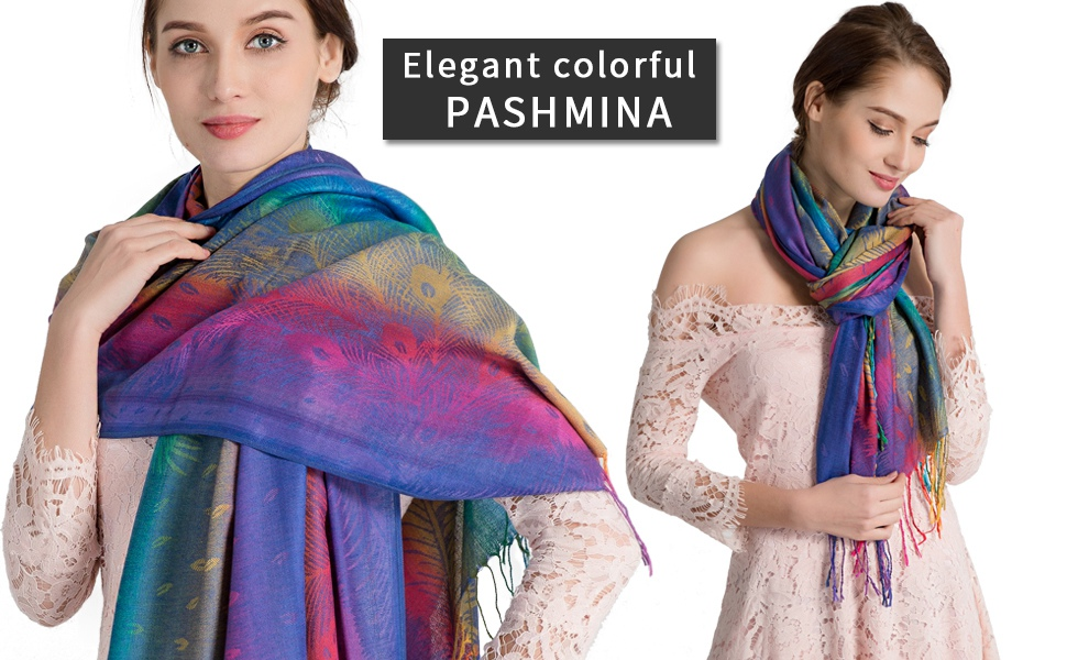 Elegant colorful pashmina