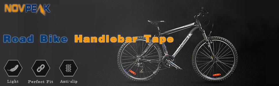 Cycling Handle Wraps Black /& Yellow Novpeak Road Bike Handlebar Tapes 2PCS Per Set Bicycle Bar Tape