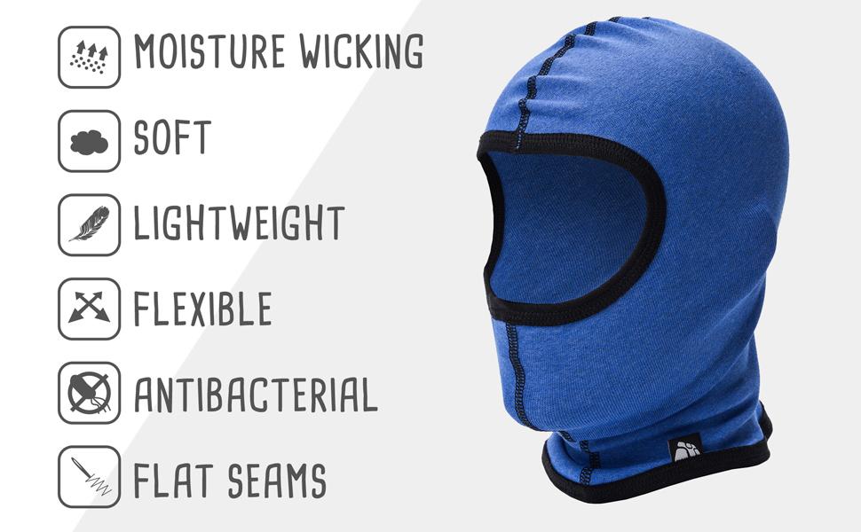 Warm Breathable Balaclava Children Kids Windproof Face Mask Bike Helmet Cycling Skiing