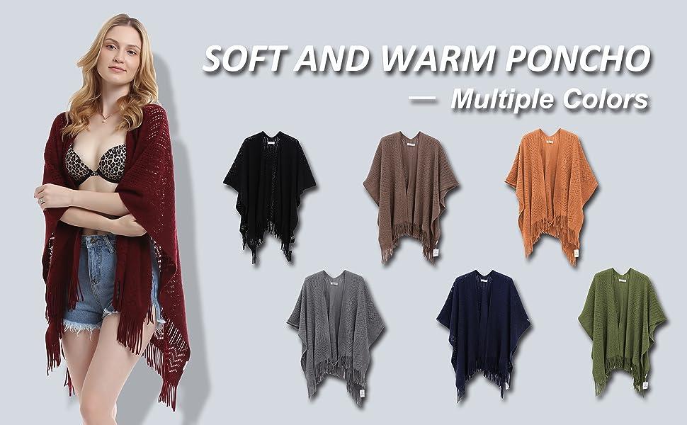 shawl for women warp knit