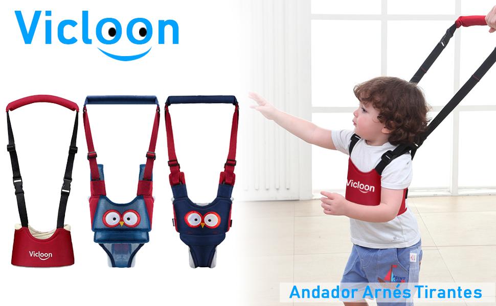 Vicloon Andador Arnés Tirantes Con Correa de Bebé Walking Rings ...