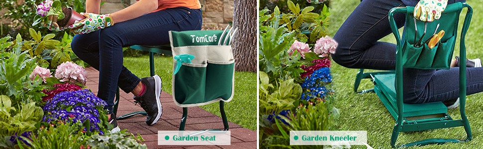 Planting Stools with Tool Bag Garden Bench WUIIEN Garden Knee Pad and Folding Seat