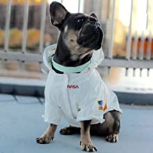chochocho nasa dog raincoat