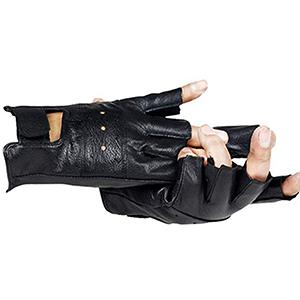 Fingerless Genuine Leather Gloves