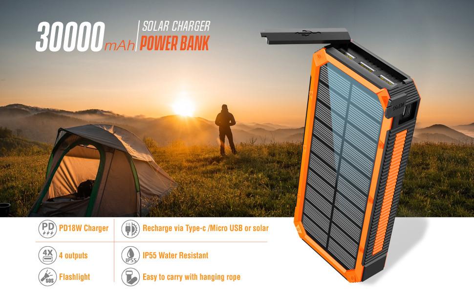 30000mah solar charger