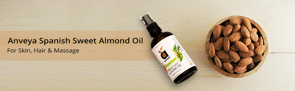 Sweet almond oil, cold pressed organic for Hair, Skin, Face Care & Massage